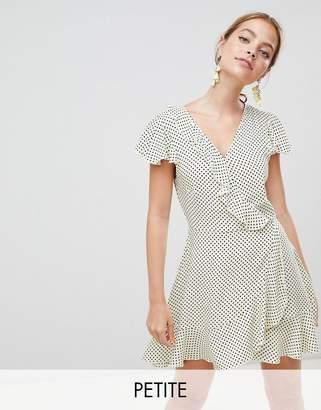 Missguided Petite Polka Dot Wrap Dress