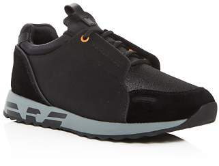 Giorgio Armani Men's Leather & Suede Lace Up Sneakers
