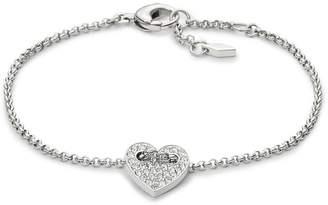 Fossil Heart Bracelet Silver