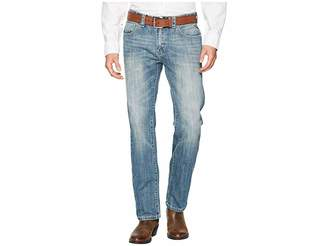 Rock and Roll Cowboy Revolver Slim Denim with Stitches in Light Vintage M1R6617