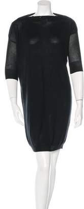 Balenciaga Button Embellished Sweater Dress