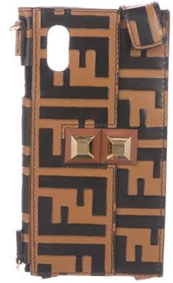 Fendi 2018 Zucca iPhone X Case On Strap tan 2018 Zucca iPhone X Case On Strap