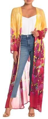 Shahida Parides Cactus Long Sleeve Maxi Duster