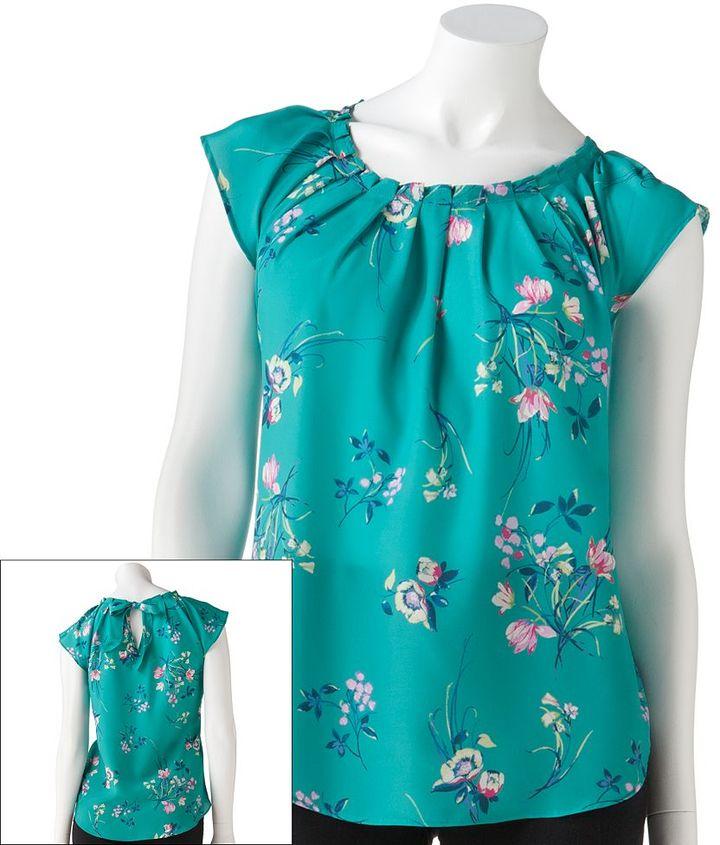 Lauren Conrad floral pleated top