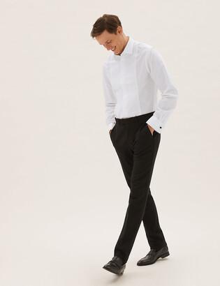 Marks and Spencer Cotton Blend Slim Fit Dinner Shirt