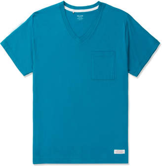 De-Luxe Deluxe Blue Caipirinha Pocket V-neck T-Shirt