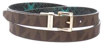 Michael Kors Reversible Skinny Belt