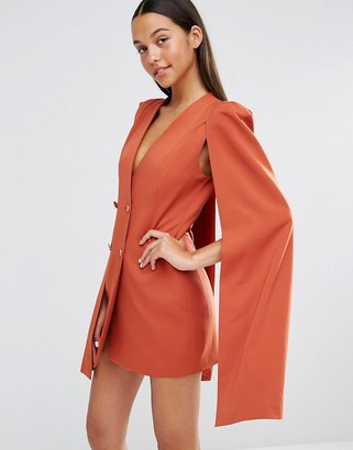 Lavish Alice Split Back Cape Dress $94 thestylecure.com