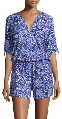 Lilly Pulitzer Bryce Popover Print Romper