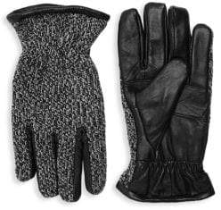 Surell Knit Leather Gloves