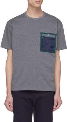 Kolor x PORTER contrast chest pocket T-shirt