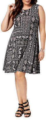 Style&Co. STYLE & CO. Plus Printed Sleeveless Dress