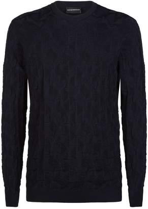 Giorgio Armani Jacquard Knit Eagle Sweater