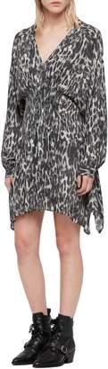 AllSaints Nichola Leo Ash Print Dress