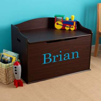 Kid Kraft Personalized Austin Espresso Toy Box