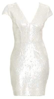 Dress the Population Zoe Cap Sleeve Sequin Dress