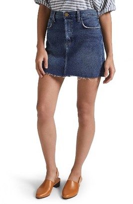Women's Current/elliott The Mini Cutoff Denim Miniskirt $188 thestylecure.com