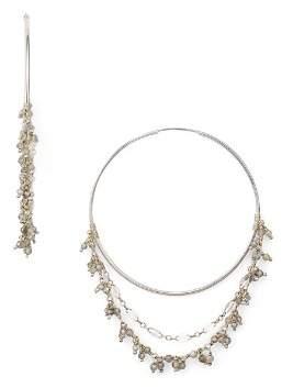 Chan Luu Labradorite Cluster Layered Hoop Earrings