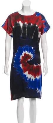 Rodarte Tie-Dye Silk Dress red Tie-Dye Silk Dress