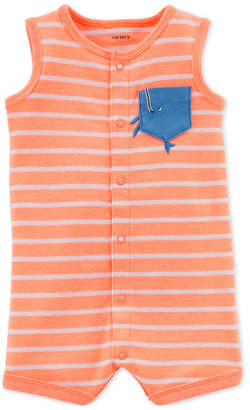 Carter's Baby Boys Striped Pocket Romper