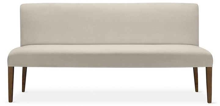Williams-Sonoma Fitzgerald Upholstered Bench, Heavy Basket Natural