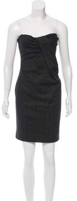 Dolce & Gabbana Pinstripe Wool-Blend Dress