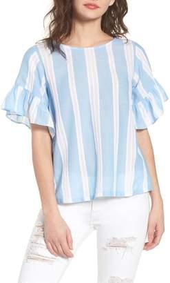 BP Stripe Tie Back Top