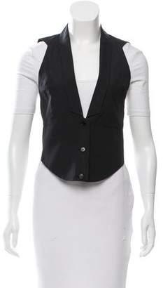 Helmut Lang Shawl-Lapel Button-Up Vest