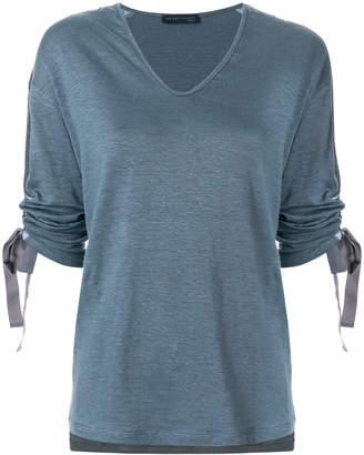 Fabiana Filippi drawstring sleeve T-shirt