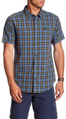 RVCA That'll Do Plaid Short Sleeve Slim Fit Shirt