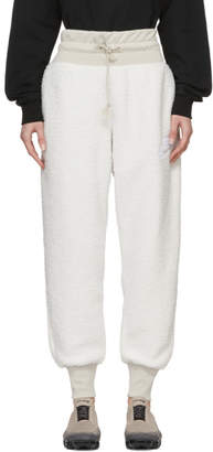 Nike White NSW Sherpa Lounge Pants