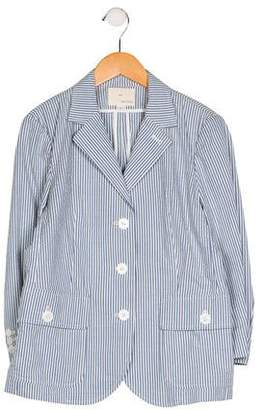 Boy By Band Of Outsiders Striped Button-Up Blazer