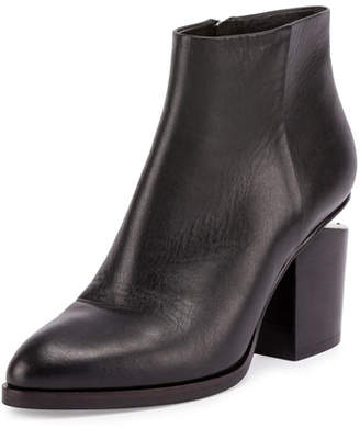 Alexander Wang Gabi Tilt-Heel Leather Boot, Black $650 thestylecure.com