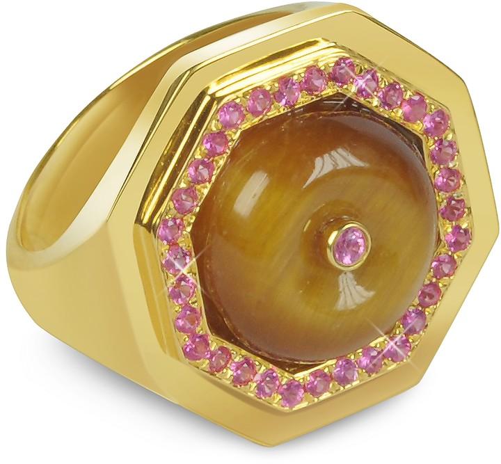 Sho London Tiger's Eye Clementina Ring