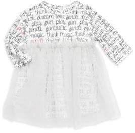 Fendi Baby Girl's T-Shirt Dress With Tulle Bottom