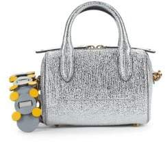 Anya Hindmarch Vere Mini Metallic Leather Barrel Bag