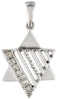 14K Diamond Star of David Pendant