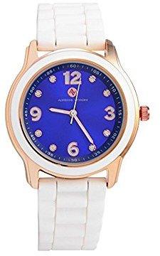 Adrienne Vittadini Watch ads9857rg228 – 061ブルーダイヤルゴムストラップクォーツムーブメントMovement