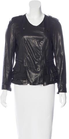 3.1 Phillip Lim3.1 Phillip Lim Ruffle-Trimmed Leather Jacket