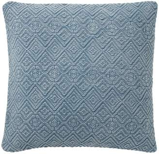 Pottery Barn Washed Diamond Pillow Cover - Blue Dusk