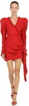 Magda Butrym Crepe De Chine Wrap Mini Dress