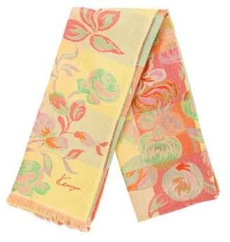 Kenzo Jacquard Floral Shawl