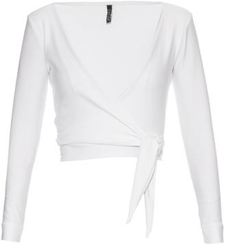LISA MARIE FERNANDEZ Dree wrap-front jersey top $285 thestylecure.com
