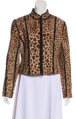 Prada Printed Fur Jacket