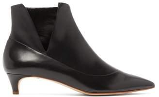 Rupert Sanderson Fairview Side Slit Kitten Heel Leather Boots - Womens - Black