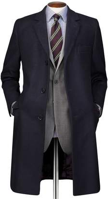 Charles Tyrwhitt Navy Wool and Cashmere OverWool/cashmere coat Size 38