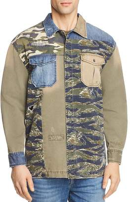 True Religion Patched Utility Regular Fit Button-Down Shirt