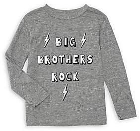 Chaser Boy's Big Brothers Rock Slogan Long-Sleeve Tee