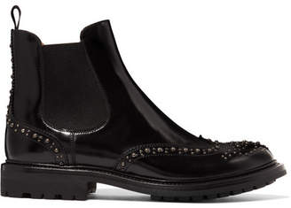 Church's Aura Met Studded Glossed-leather Chelsea Boots