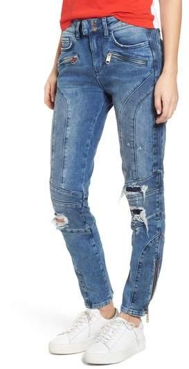 x Gigi Hadid Speed Distressed Ankle Zip Jeans